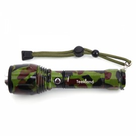 TEEKLAND 600LM LED Camouflage Flashlight Retoting Zoom Adjustable Focus Torch Lamp 3 Modes Camouflage