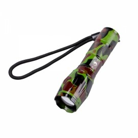 U'King ZQ-X1061GC# T6 1000LM 5 Modes Stylish SOS Zoomable Flashlight US Plug Green Camouflage