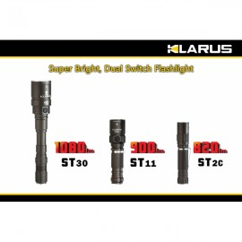 KLARUS(ST30) 2 LED 1080LM 5500K White Light 7-Mode Flashlight Metal Gray