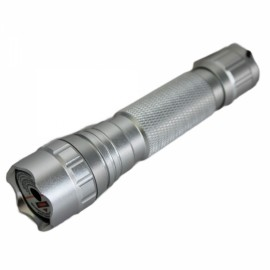 4mW 405nm Purple Beam Light Single Dot Light Style Rechargeable Laser Pointer Pen Set Silver