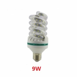 E27 9W SMD 2835 Spiral Shape LED Corn Light Bulb - Cold White