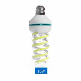 E27 16W LED Bulb COB Spiral Shape White Energy Saving Corn Light Lamp (AC85-265V)