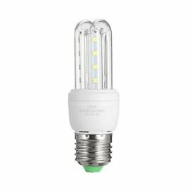 LED E27 3W U Shape Energy Saving Light Corn Lamp Bulb - White