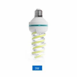 E27 9W LED Bulb COB Spiral Shape White Energy Saving Corn Light Lamp (AC85-265V)