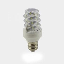 E27 7W SMD 2835 Spiral Shape LED Corn Light Bulb - Warm White