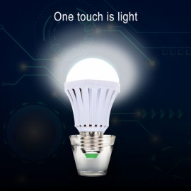E27 5W LED Energy Saving Rechargeable Intelligent Emergency Light Bulb 85V-265V