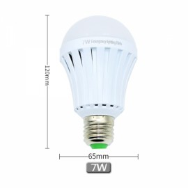 E27 7W LED Intelligent Bulb Light Energy Saving Emergency 85V-265V White