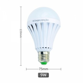 E27 9W LED Light Bulb Energy Saving Emergency White Light AC 85V-265V
