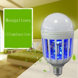 E27 15W LED Anti Mosquito Light Bulb Killer Power Grid Artifact