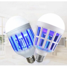 2pcs E27 LED Lighting Anti-mosquito Bulb Light 15W Bird Cage Mosquito Killer Power Grid Anti-mosquito Artifact Purple