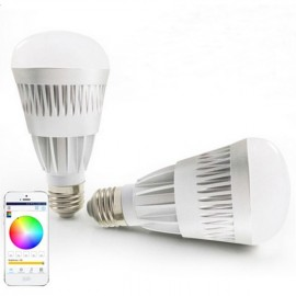 E27 10W Newly Warm White + RGB Light Smart Dimmable WiFi LED Bulb