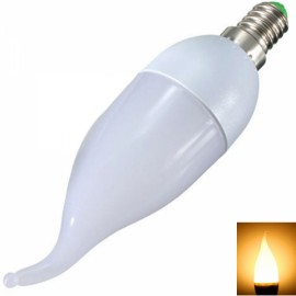 E14 3W 10 x 2835SMD LED 280LM 2800-3200K Warm White Light Candle Tail Lamp