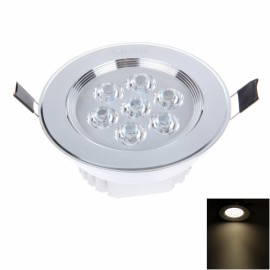7W 7LED 580LM 3000K Warm White Light Ceiling Lamp with LED Driver Silver (AC85-245V)