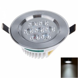 7W 7LED 580LM 6000K White Light Ceiling Lamp with LED Driver Silver (AC85-245V)