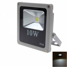 10W 900LM 6000K IP66 Ultrathin White Light LED Flood Light Gray & Black (90-240V)