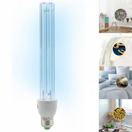 E27 15W UV Ozone Sterilization Anti-Bacterial Ultraviolet Disinfection Germicidal Lamp AC220V