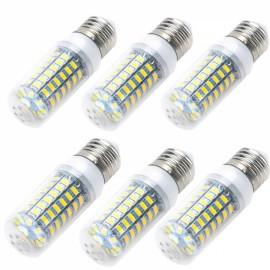 6pcs E27 12W 920LM 3500K 69-SMD 5730 LED Corn Lamp Bulb AC 110V Warm White Light