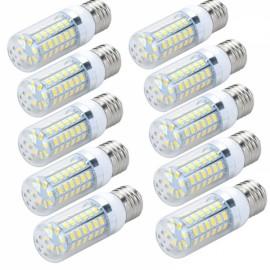 10pcs LED Corn Lamp Bulb E27 12W 820LM 6500K 56-SMD 5730 110V White Light