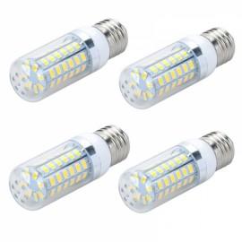 4pcs LED Corn Lamp Bulb E27 12W 820LM 6500K 56-SMD 5730 110V White Light