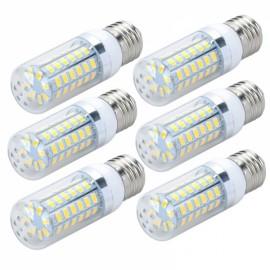 6pcs LED Corn Lamp Bulb E27 12W 820LM 6500K 56-SMD 5730 110V White Light