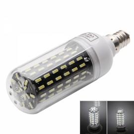 E12 9W 6000-6500K White Light 96-SMD4014 LED Corn Lamp Bulb (AC 220-240V) Silver & White