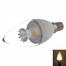 E14 C37 5W 400-420LM COB LED 3000K Warm White Light Candle Lamp Bulb (AC 100-240V)