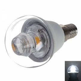 E14 P45 5W 400-420LM COB LED 6000K White Light Candle Lamp Bulb (AC 100-240V)