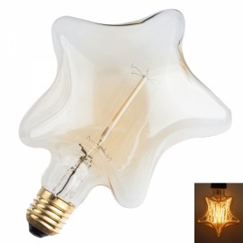 E27 Star 13Anka 40W Warm White Light Retro Edison Light Bulb Art Deco Lamp (230V)