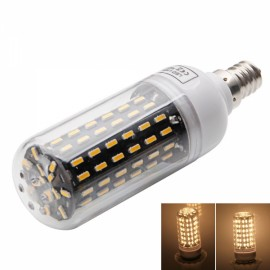 E12 9W 3000-3500K Warm White Light 96-SMD4014 LED Corn Lamp Bulb (AC 220-240V) Silver & White