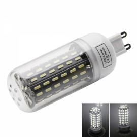 G9 9W 6000-6500K White Light 96-SMD4014 LED Corn Lamp Bulb (AC220-240V) Silver & White