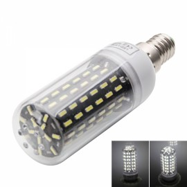 E14 9W 6000-6500K White Light 96-SMD4014 LED Corn Lamp Bulb (AC220-240V) Silver & White