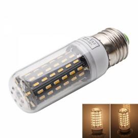 E27 9W 3000-3500K Warm White Light 96-SMD4014 LED Corn Lamp Bulb (AC 220-240V) Silver & White