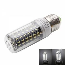 E27 9W 6000-6500K White Light 96-SMD4014 LED Corn Lamp Bulb (AC 110-130V) Silver & White