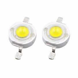 5pcs 5W High Power LED Chip White Lamp Light Beads Diode With 120Degree Lens - White