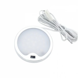 IR Sensor 33 LEDs Cabinet LED Lighting Aluminum Kitchen Light Counter Hand Wave Activated Round Lamp - Warm White Light