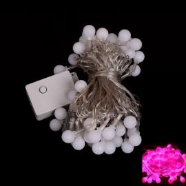 50 LED Pink Light Ball Style Holiday Decoration String Light (EU Plug)
