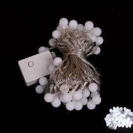 50 LED White Light Ball Style Holiday Decoration String Light (EU Plug)