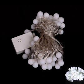 100 LED White Light Ball Style Holiday Decoration String Light (EU Plug)