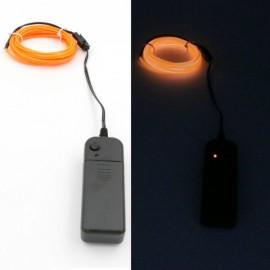 5M 3V Flexible Waterproof 3-Mode Neon EL Wire Light Party Light Orange