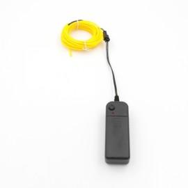 5M LED Neon EL Wire Light Flexible 3-Mode Car Party Decor Light Yellow