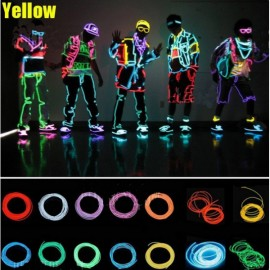 3M Neon Light Flexible Wire Dance Party Decor Light - Yellow