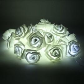 20 - LED Roses  String Light 8 Color Night Light - White