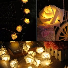 20 - LED Roses  String Light 8 Color Night Light - Yellow