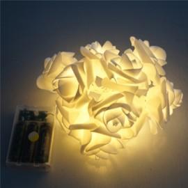 20 - LED Roses  String Light 8 Color Night Light - Warm White