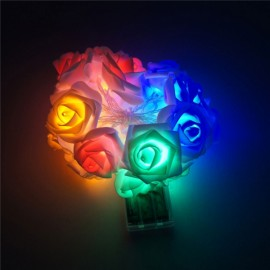 20 - LED Roses  String Light 8 Color Night Light - Colorful