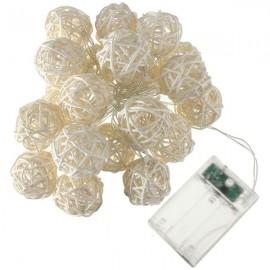 20 LED String Fairy Lights Thailand Rattan Christmas Wedding Ball Blue