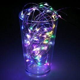 10M 100 LED Silvery Wire Waterproof Fairy String Lights US Adapter Four-colored