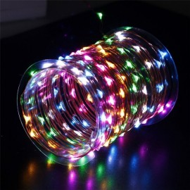 10M 100 LED Silvery Wire Waterproof Fairy String Lights EU Adapter Multicolor Changeable