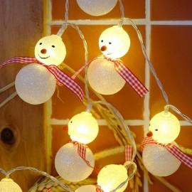 3M 20 LED Snowman String Light for Garden Home Decoration EU Plug