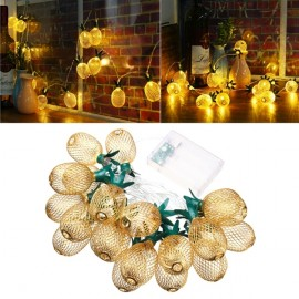 2M 20LED Battery Powered Warm White Metal Pineapple Shaped String Light